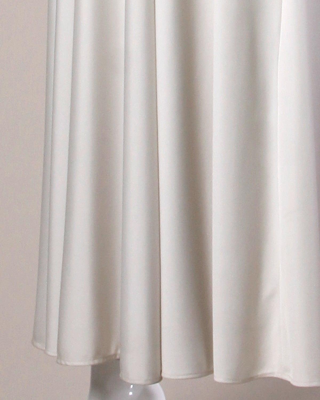 Women's Lilli Diamond Vintage 1970s Pale Gray Beaded Empire Maxi Dress For Sale