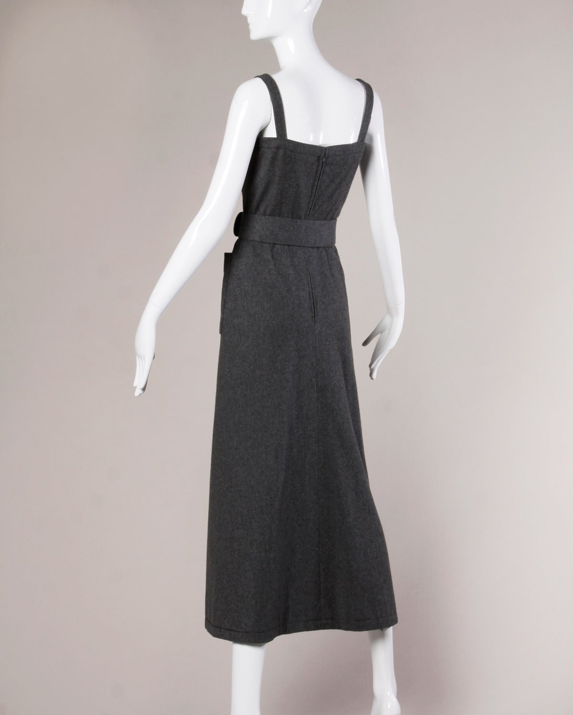 Jean Patou Vintage 1960s Wool 3-Piece Belt, Wrap & Dress Ensemble 6