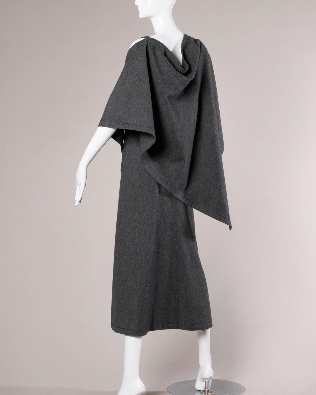 Jean Patou Vintage 1960s Wool 3-Piece Belt, Wrap & Dress Ensemble 7