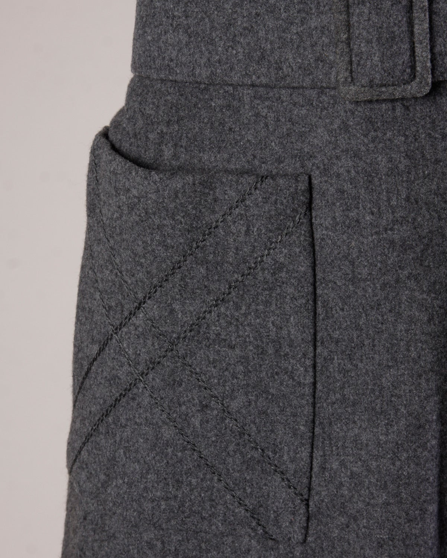 Jean Patou Vintage 1960s Wool 3-Piece Belt, Wrap & Dress Ensemble 5