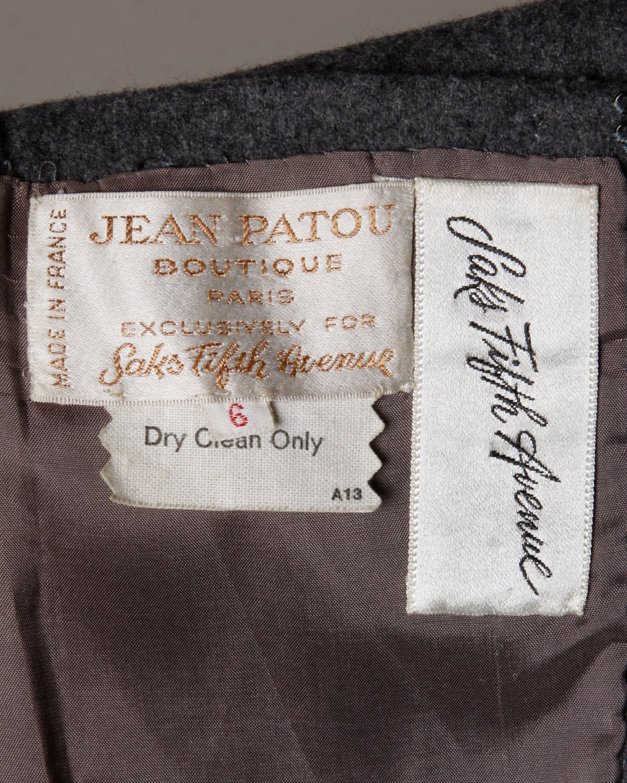 Jean Patou Vintage 1960s Wool 3-Piece Belt, Wrap & Dress Ensemble 10
