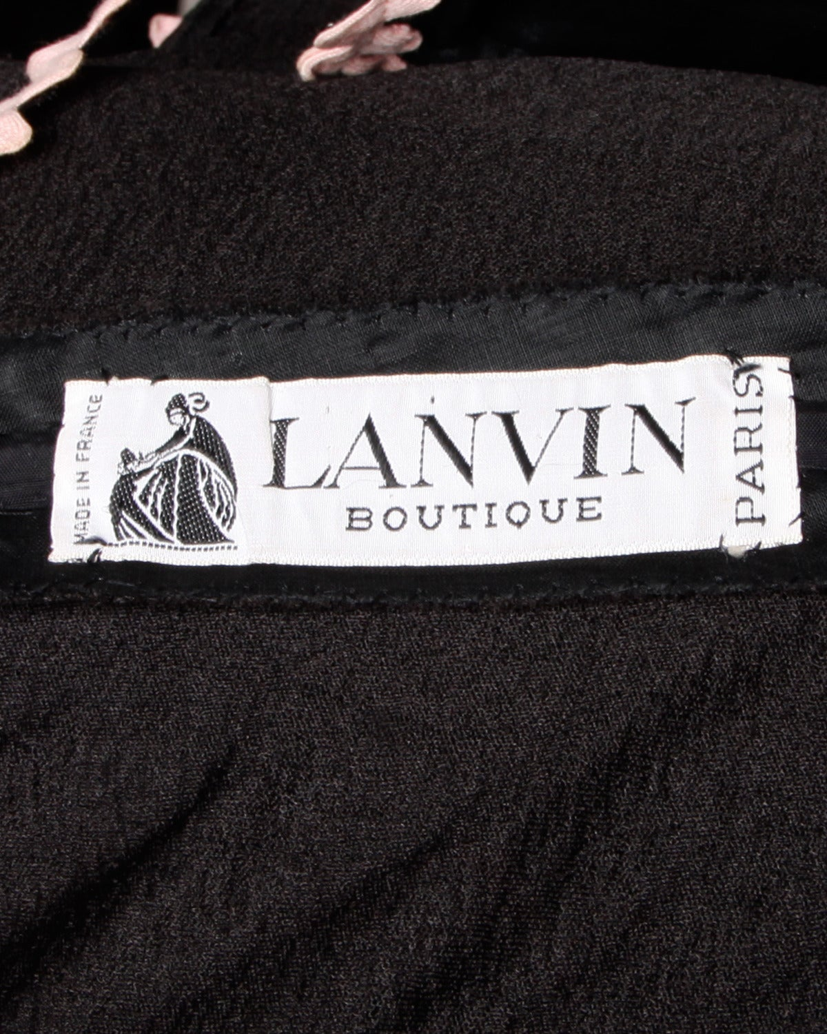 Lanvin Vintage Black Silk Tiered Gown 9