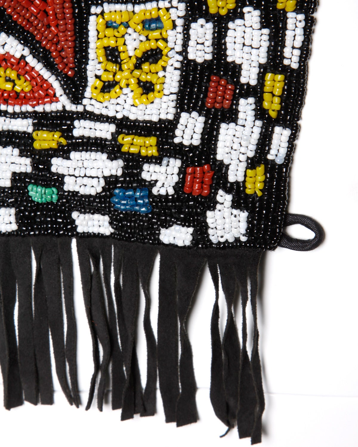 Women's or Men's Hand-Made Heavy Vintage Native American Seed Beaded Vest For Sale