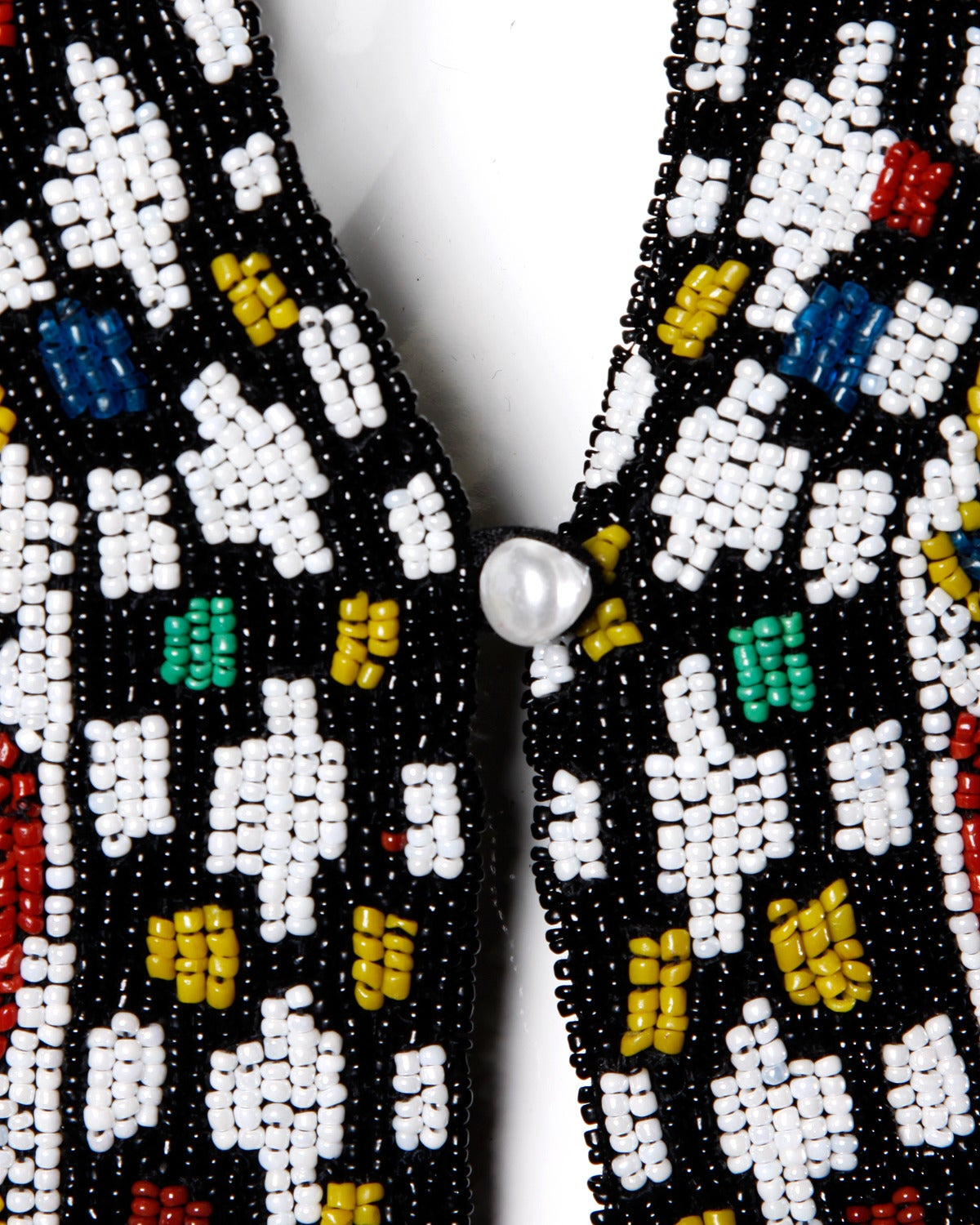Hand-Made Heavy Vintage Native American Seed Beaded Vest For Sale 1