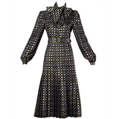 Jill Richards Vintage Metallic Checkered Brocade 4-Piece Ensemble