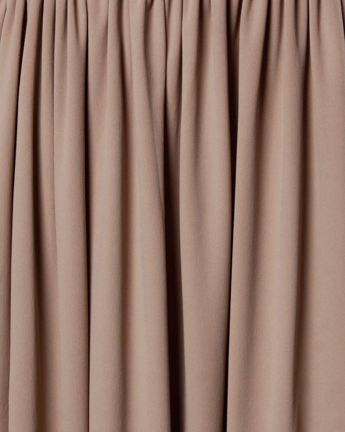 Victor Costa Deadstock Vintage Nude Halter Dress with Original Tags For Sale 1