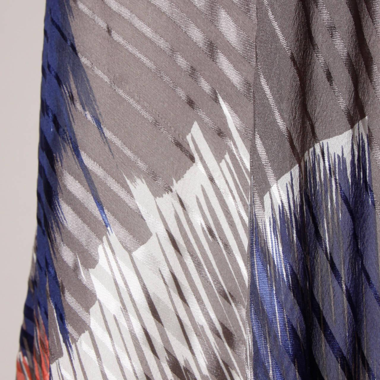 Vintage Sheer Printed Silk Chiffon Dress For Sale 2