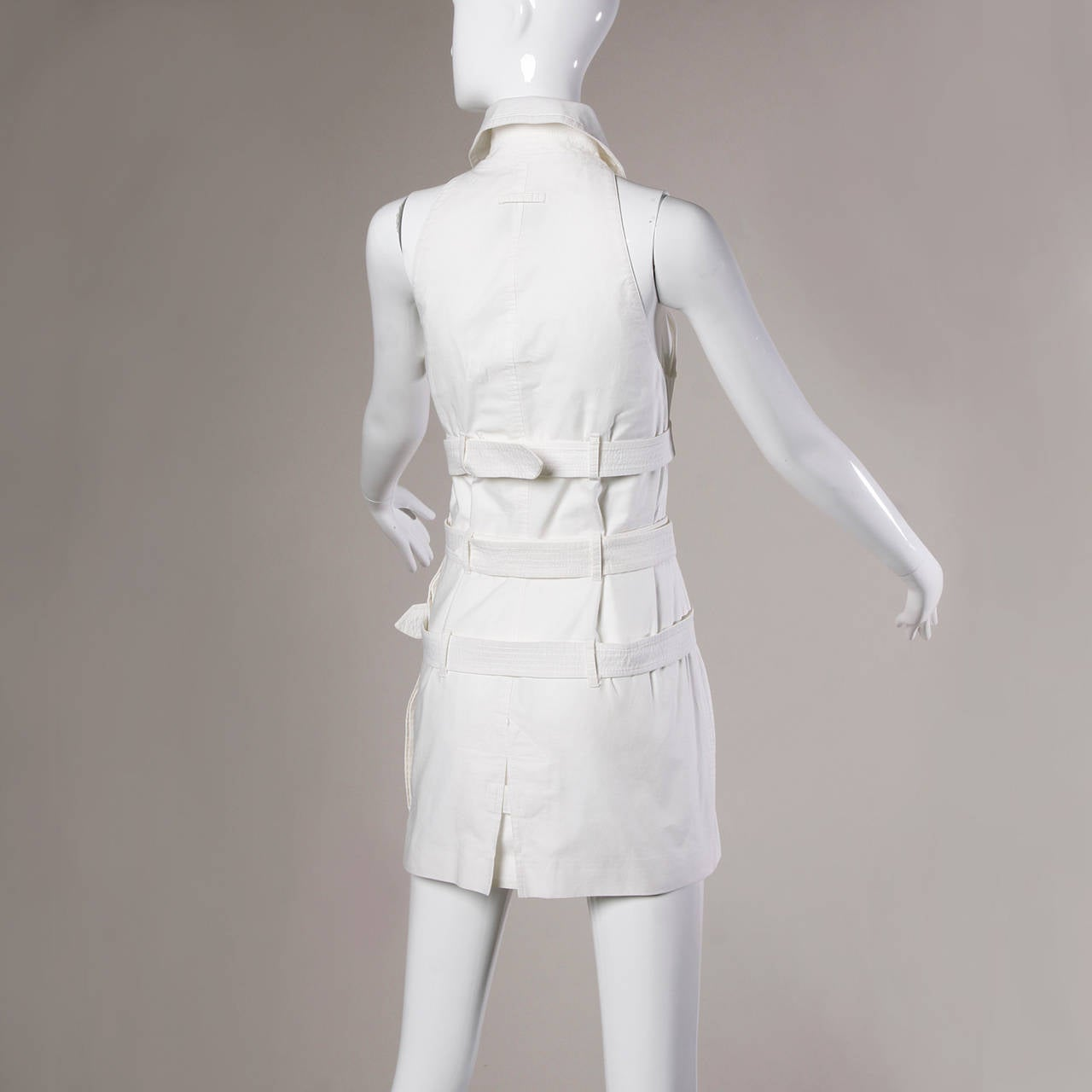 Jean Paul Gaultier Iconic Vintage Straitjacket Belted Bondage Dress For Sale 3