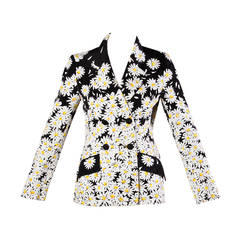 Moschino Vintage 1990s Daisy Blazer Jacket