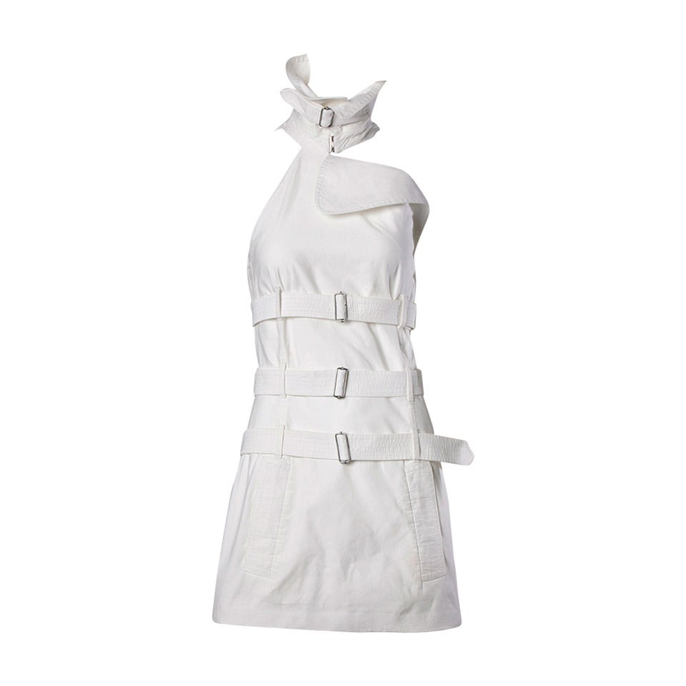 Jean Paul Gaultier Iconic Vintage Straitjacket Belted Bondage Dress For Sale