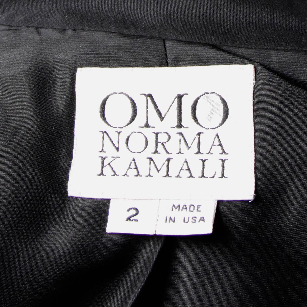 Norma Kamali Omo Vintage 1980s Black Fringe Jacket 9
