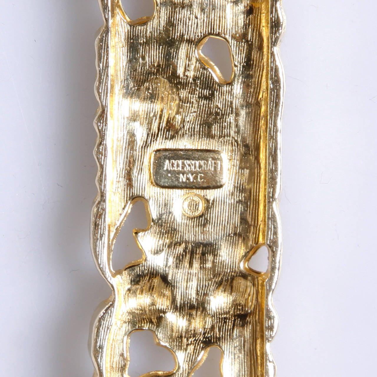 Accessocraft Vintage 1970s Gold Snake Chain Stretch Belt For Sale 4