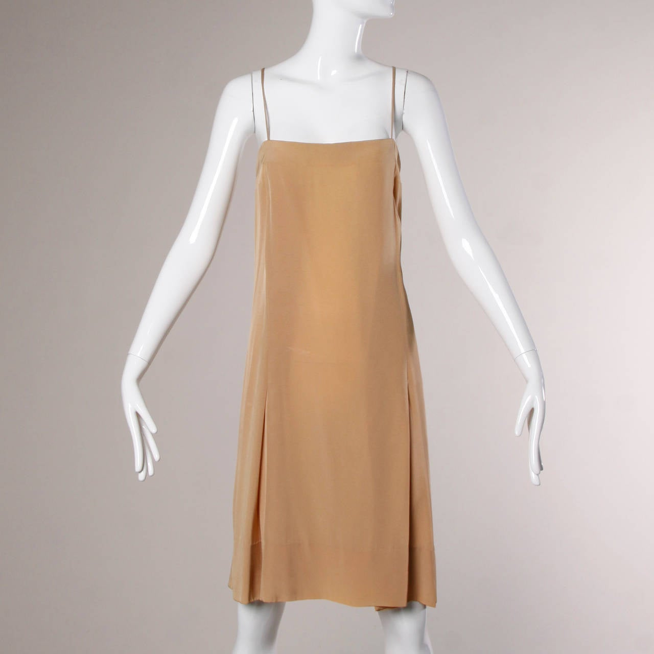 Pauline Trigere Vintage 1970s Metallic Silk 3-Piece Dress + Sash For Sale 3