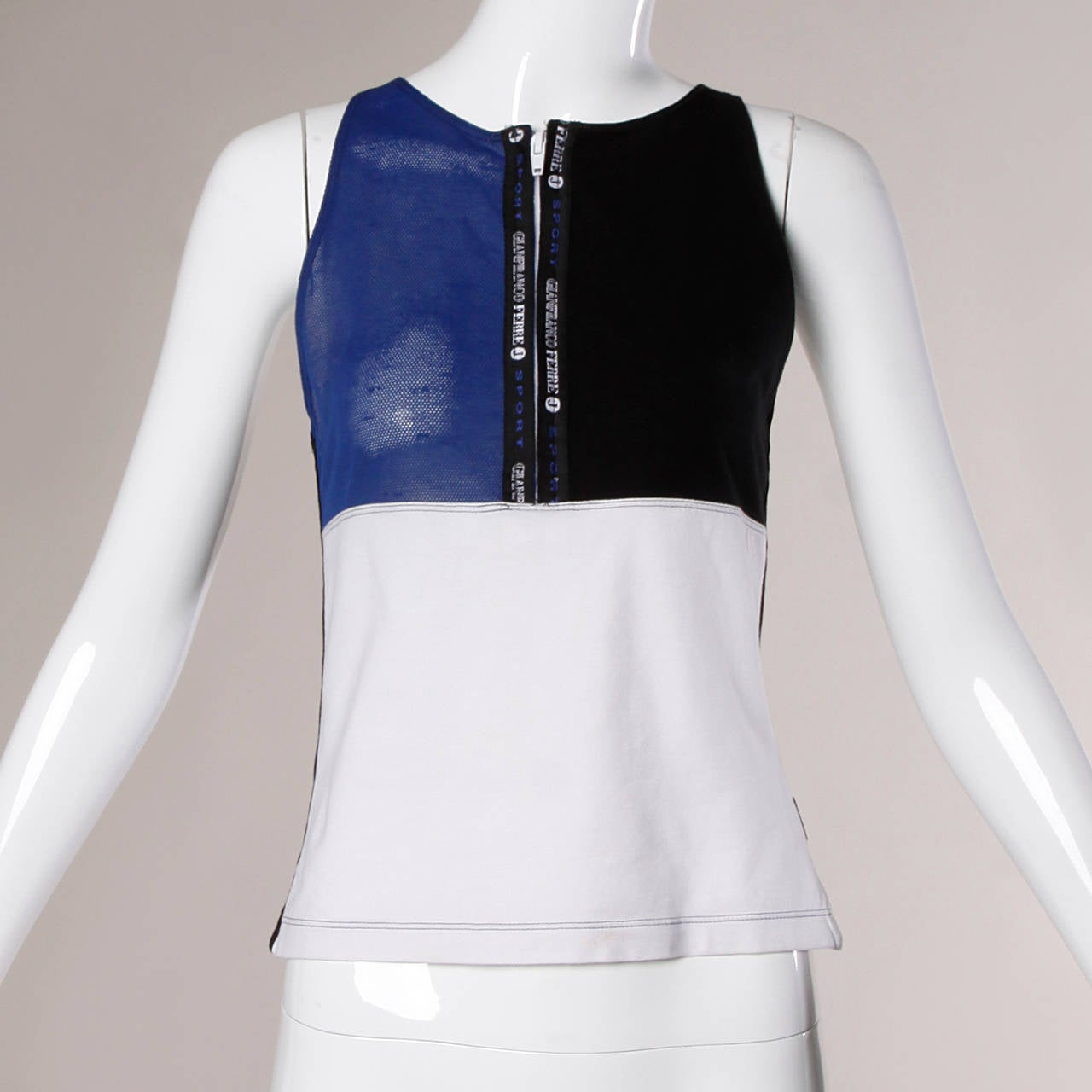 Gianfranco Ferre Vintage Sporty Color Block 2-Piece Skirt + Top Ensemble 7