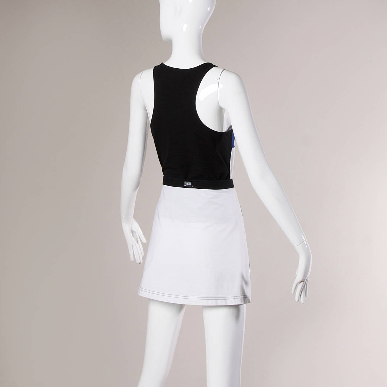 Gianfranco Ferre Vintage Sporty Color Block 2-Piece Skirt + Top Ensemble 4
