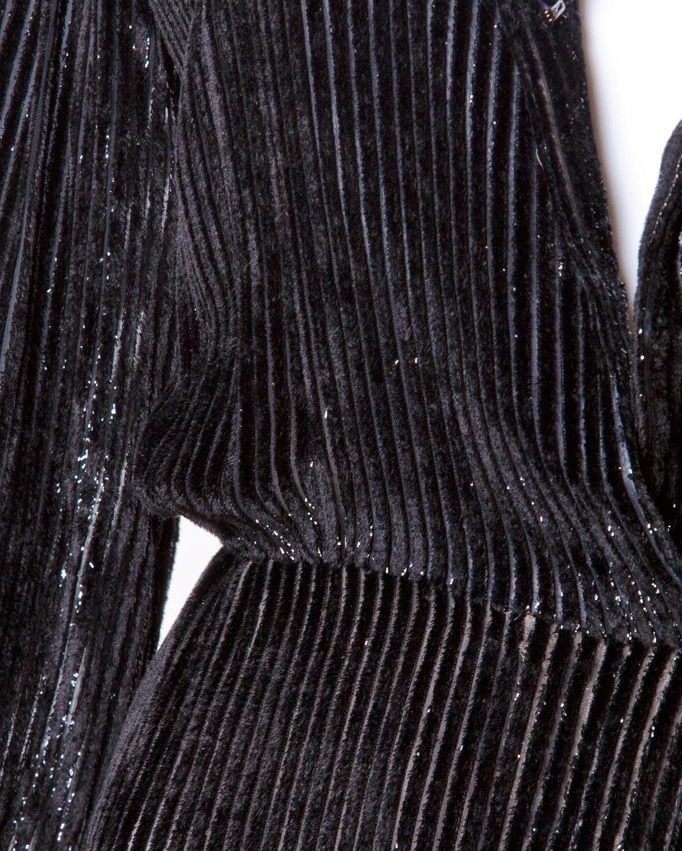 Travilla for I. Magnin Vintage Black Silk Velvet Cocktail Dress For Sale 1