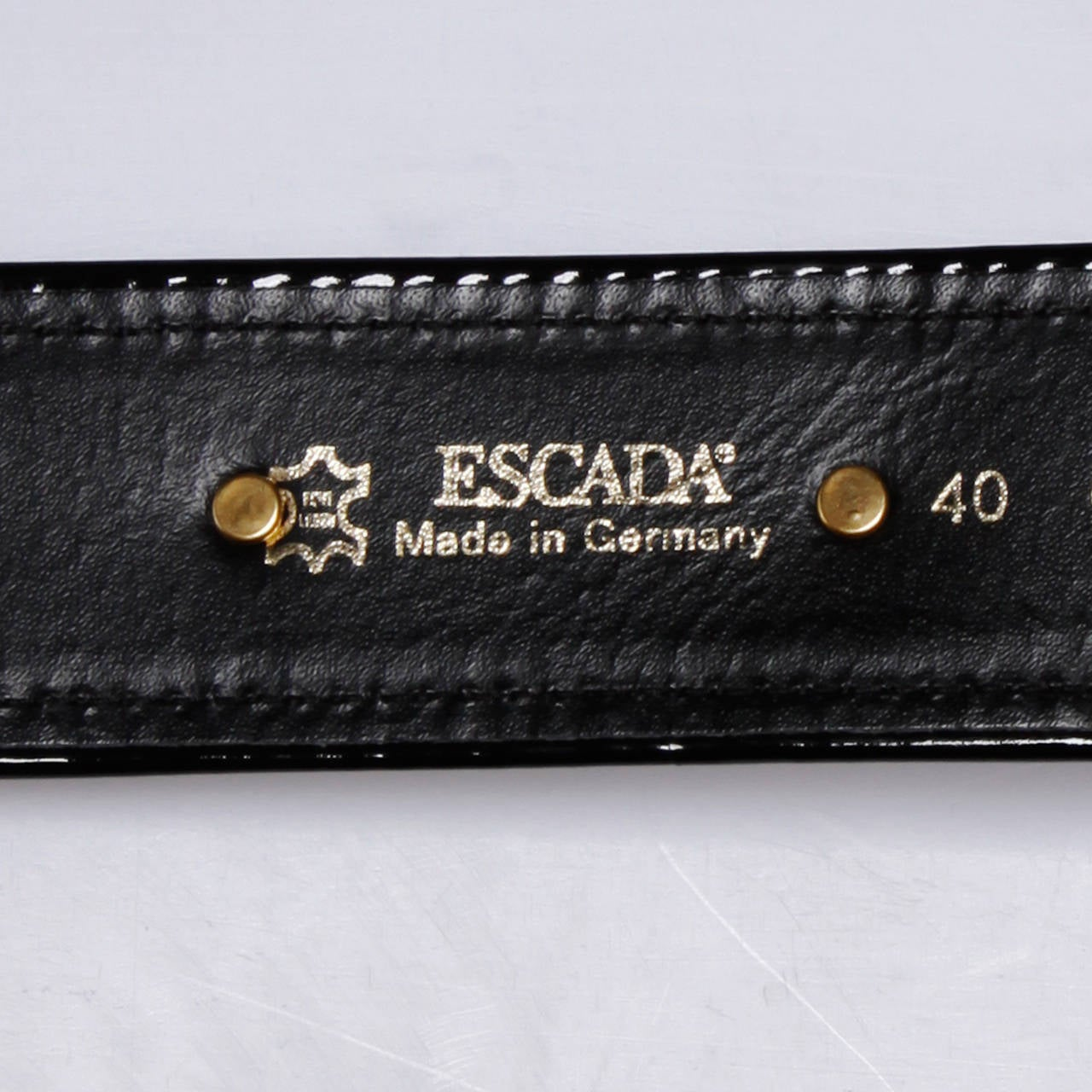 Escada Vintage Black Leather Heart Belt For Sale 4
