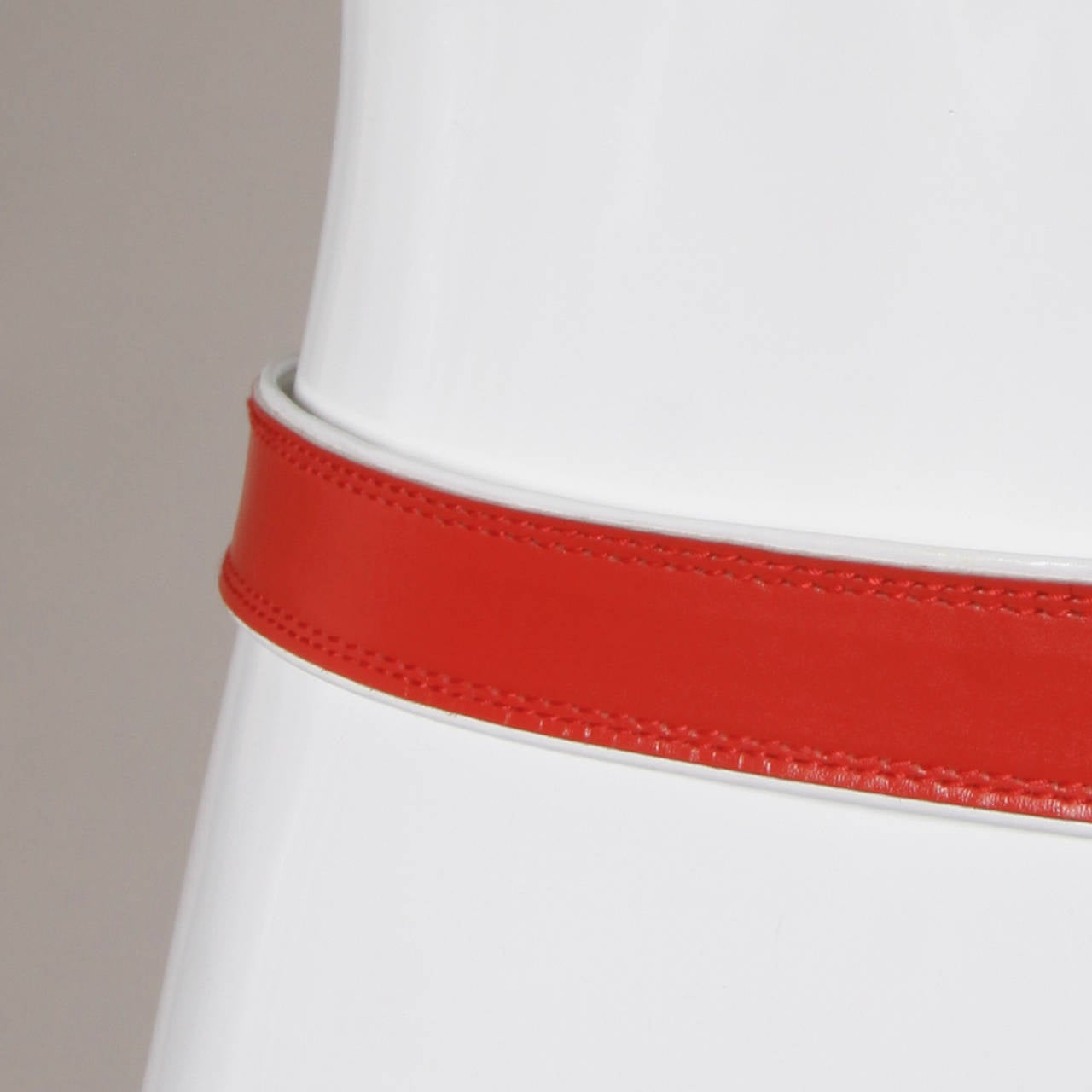 "Escada Vintage Red Leather ""Strawberry"" Belt 5"