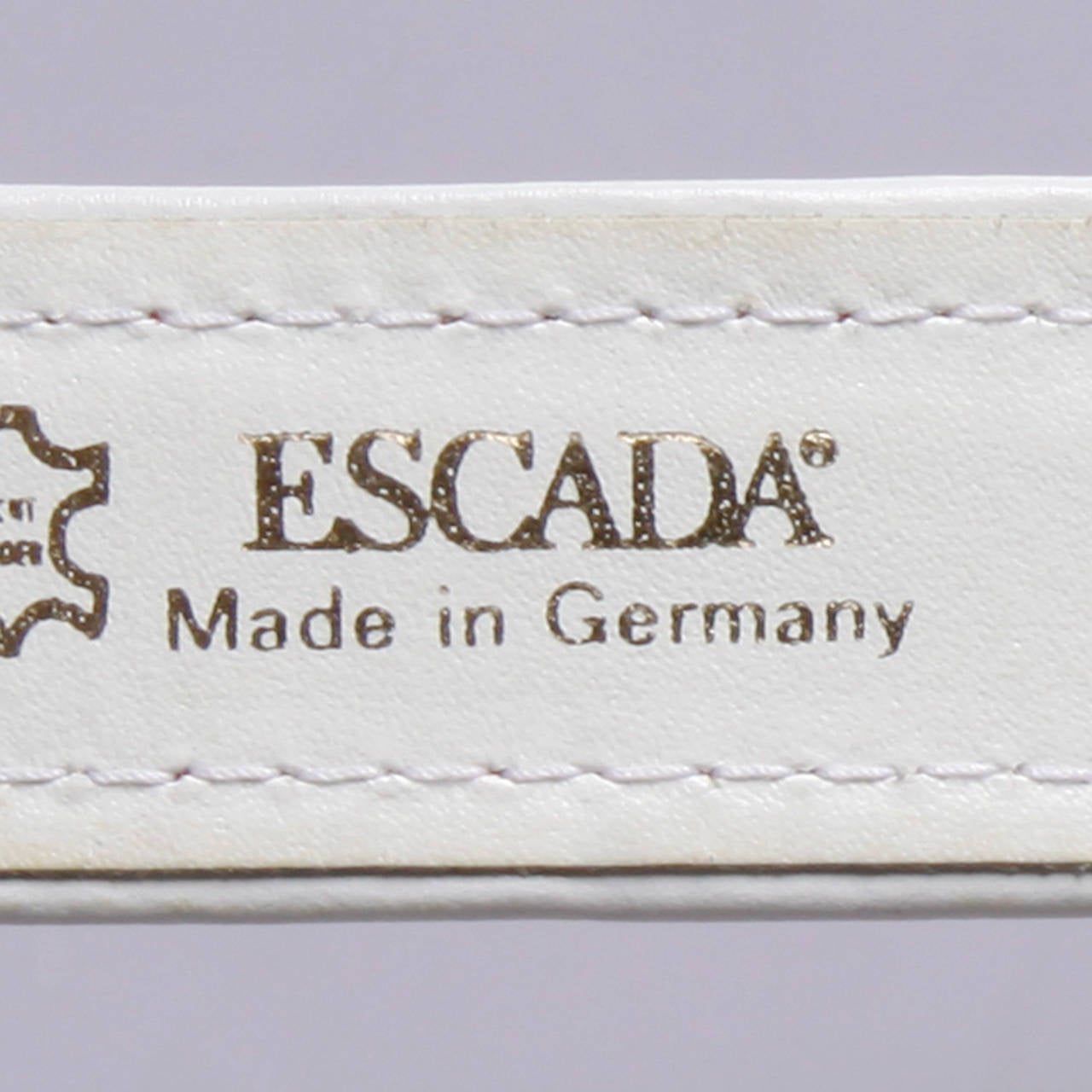 "Escada Vintage Red Leather ""Strawberry"" Belt 7"