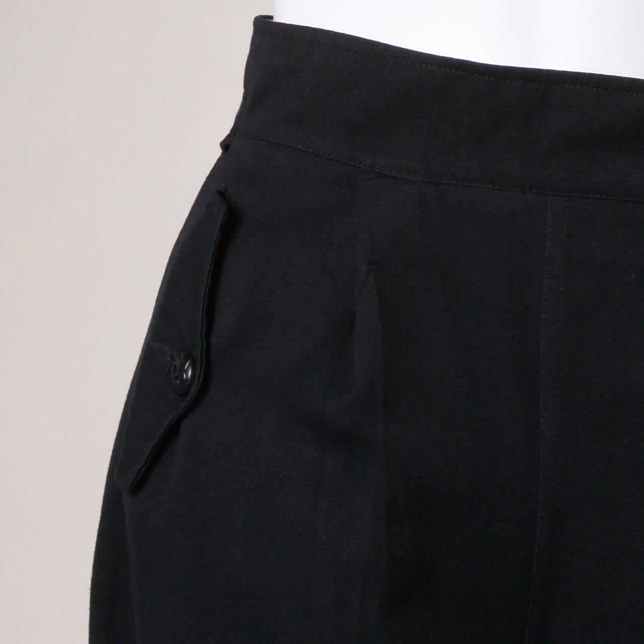 1940s Vintage Navy Blue Wool High Waisted Riding Pants with Stirrups 6