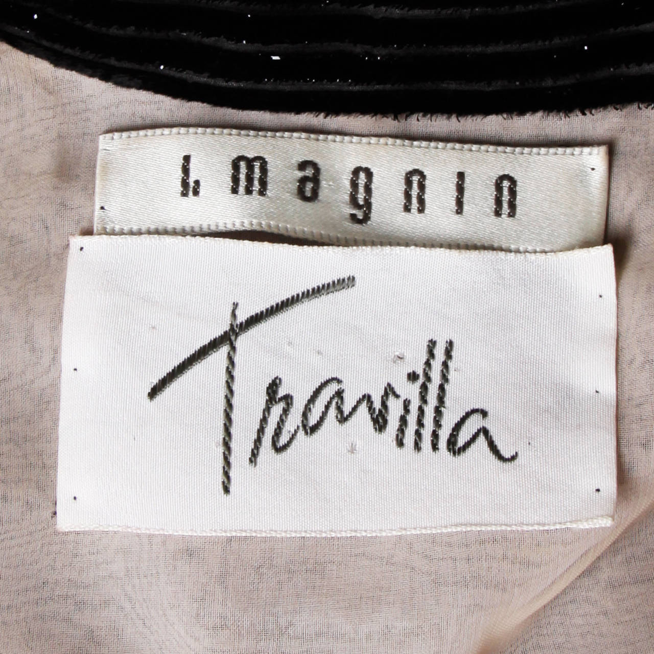 Travilla for I. Magnin Vintage Black Silk Velvet Cocktail Dress For Sale 2