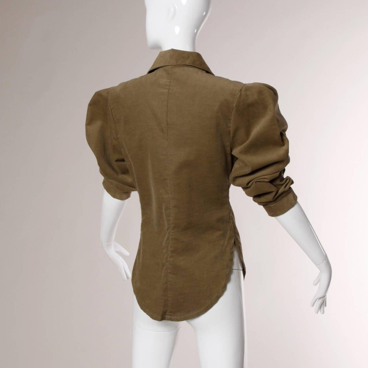 Norma Kamali Vintage Avant Garde Top or Jacket For Sale 4