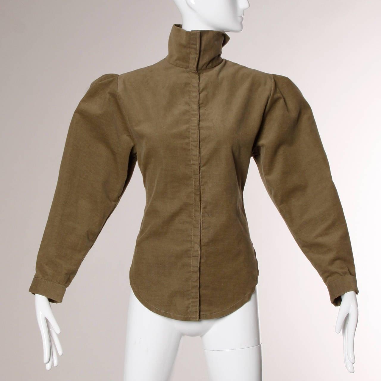 Norma Kamali Vintage Avant Garde Top or Jacket In Excellent Condition For Sale In Sparks, NV