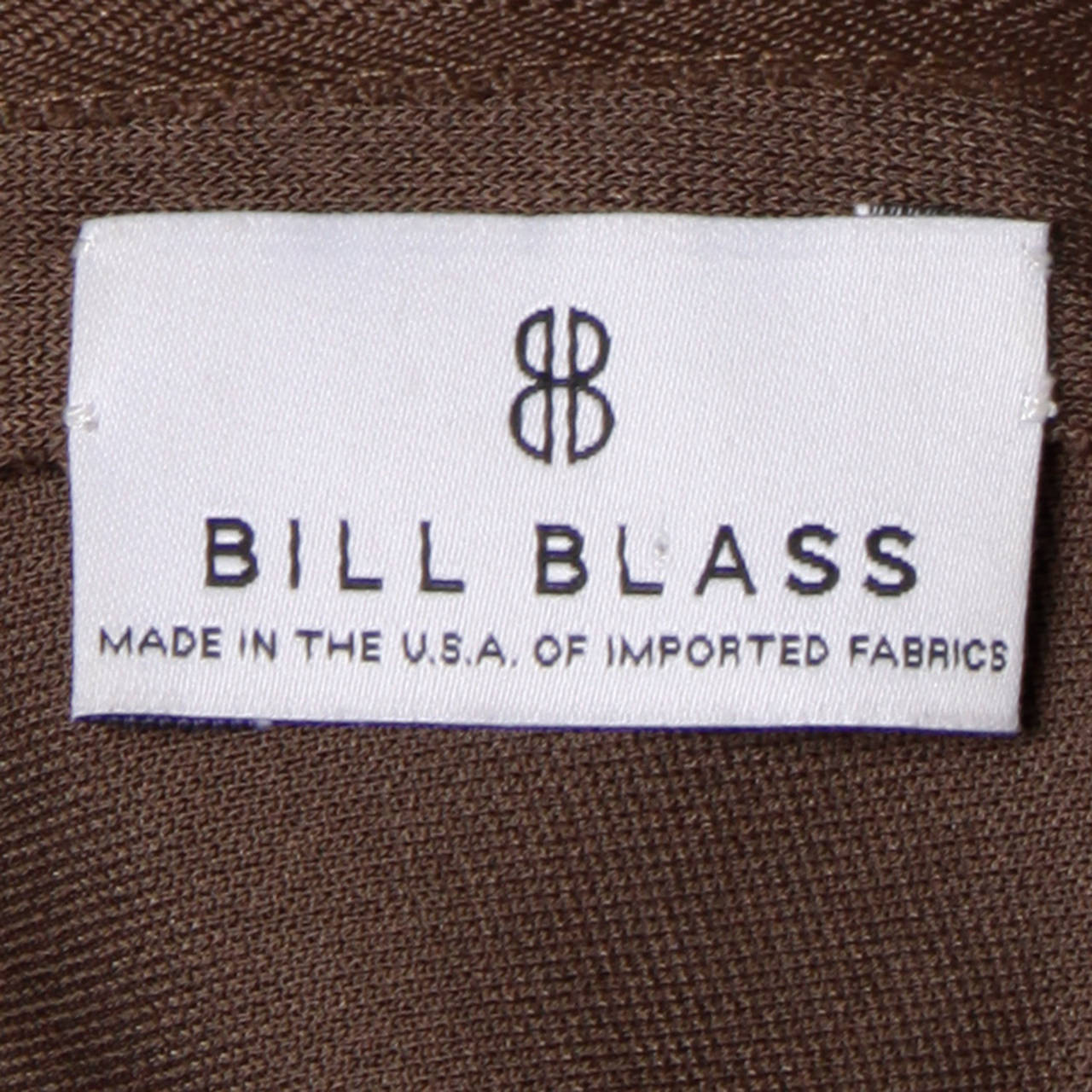 Bill Blass for Saks Fifth Avenue Ruched Brown Jersey Knit Dress For Sale 4