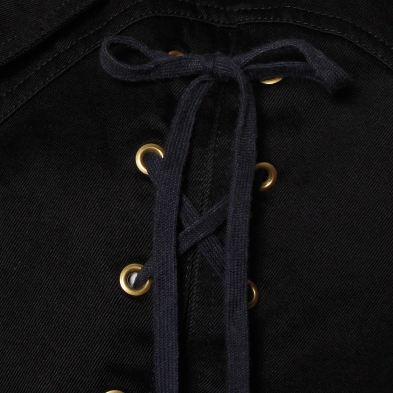 Patrick Kelly Vintage Black Lace Up Grommet Jacket 2