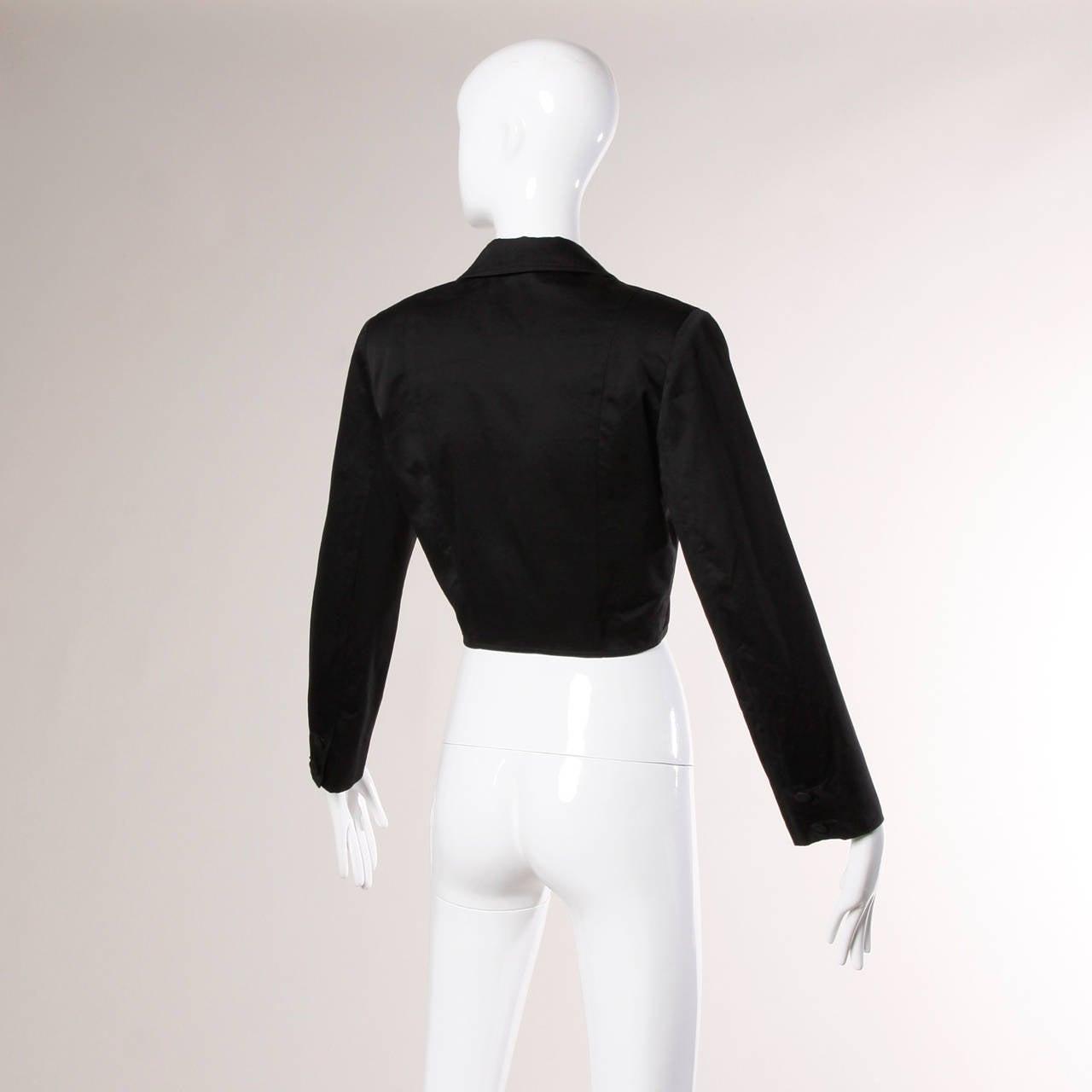 Patrick Kelly Vintage Black Lace Up Grommet Jacket 5