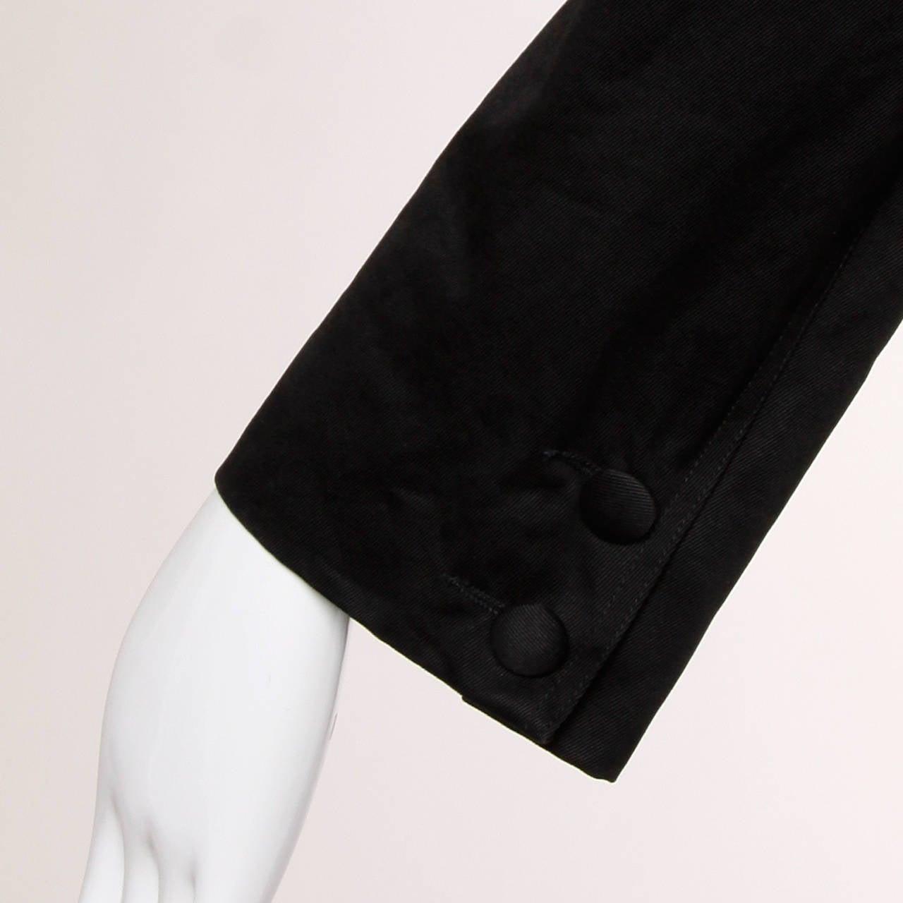 Patrick Kelly Vintage Black Lace Up Grommet Jacket 8