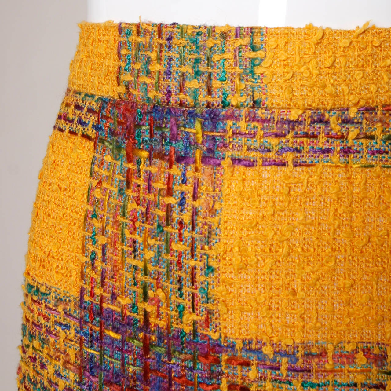 Valentino Vintage Rainbow Plaid Skirt 3