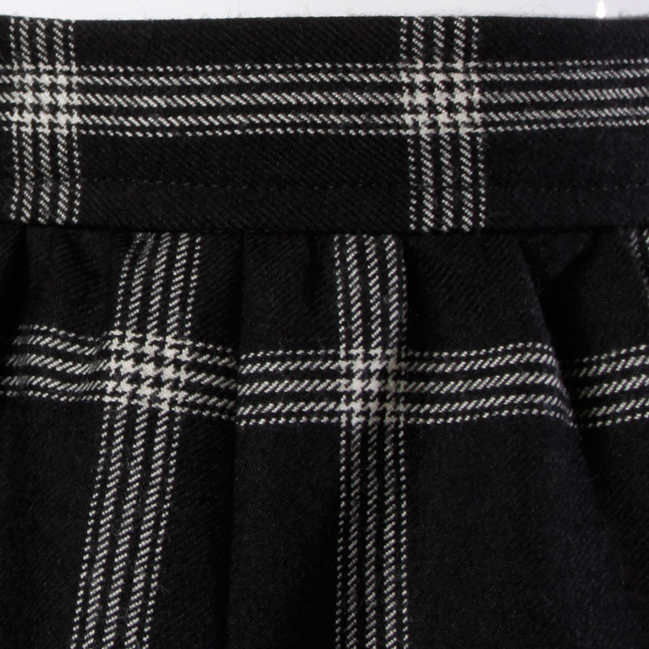 Koos Van Der Akker Vintage Black + White Plaid Wool Skirt 6