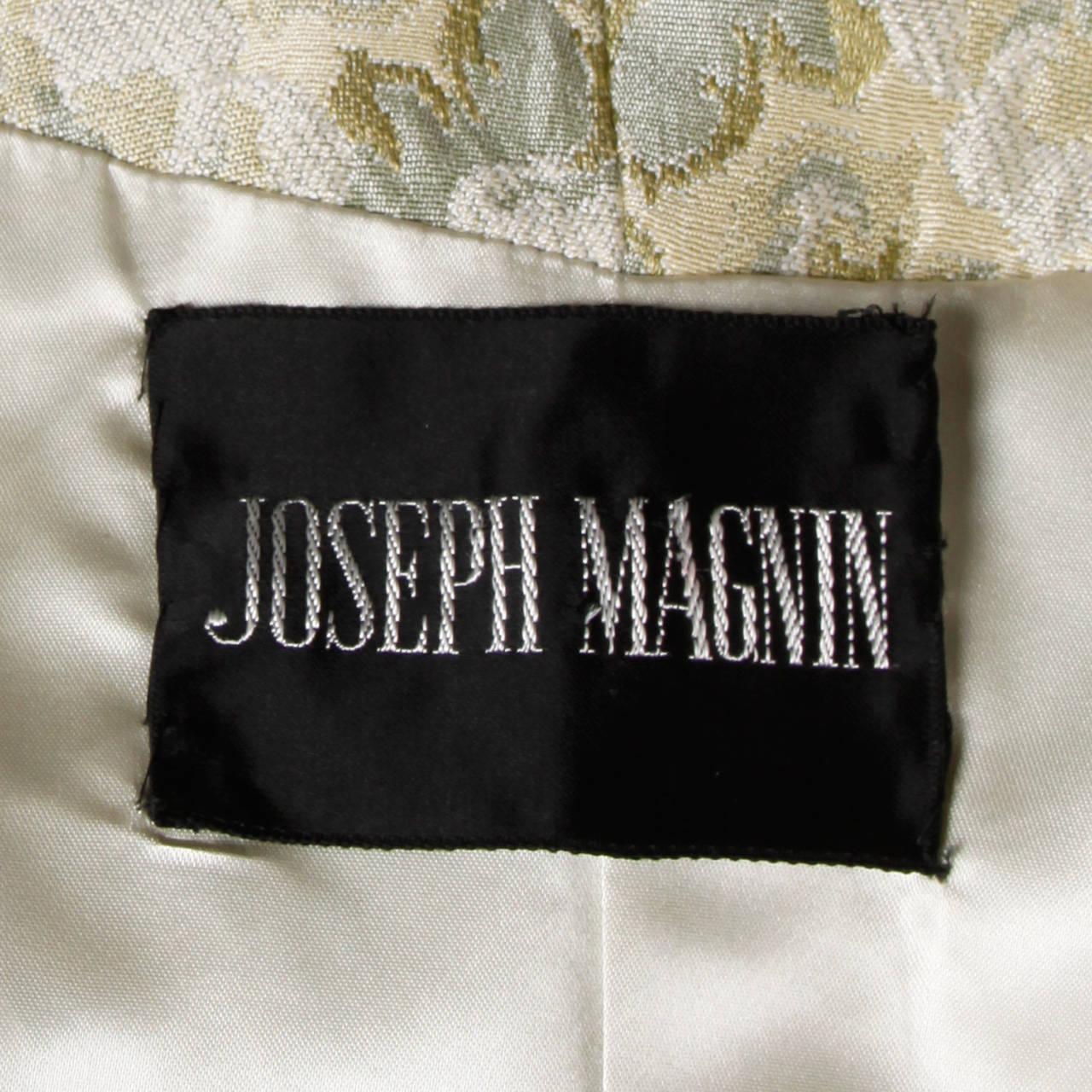 Joseph Magnin 1960s Vintage Metallic Brocade Tapestry Trench Coat 9