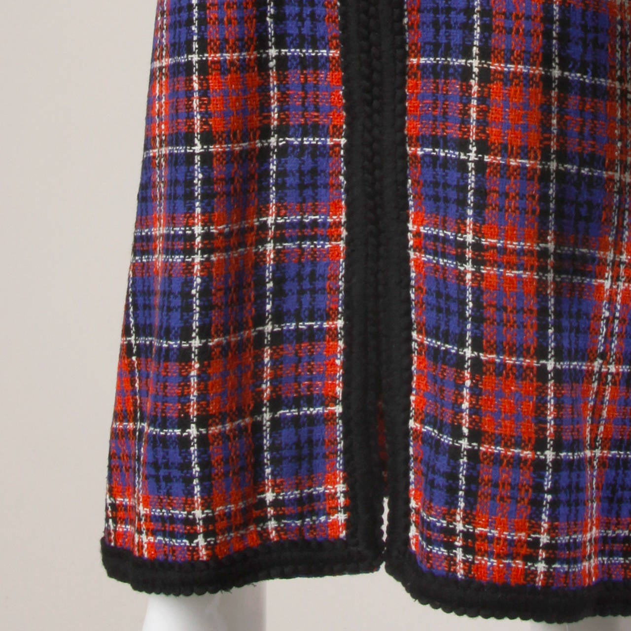 Oscar de la Renta Vintage 1960s Plaid Dress For Sale 3