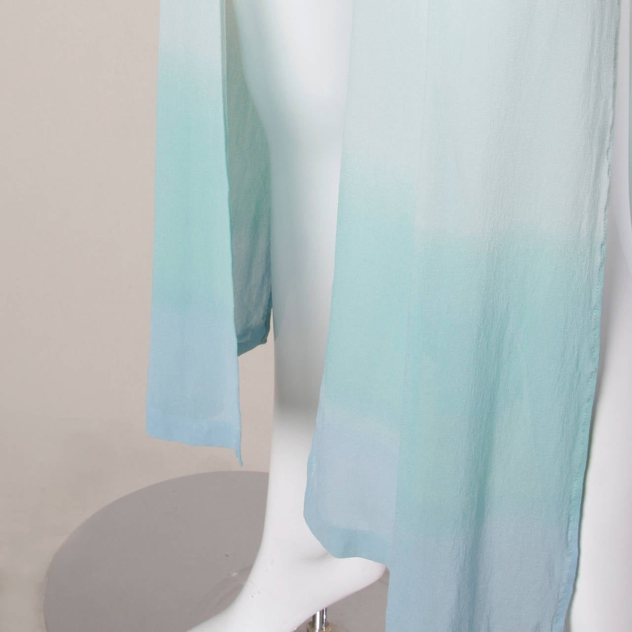 Louis Feraud Vintage Ombre Silk Kimono Duster or Maxi Coat 4