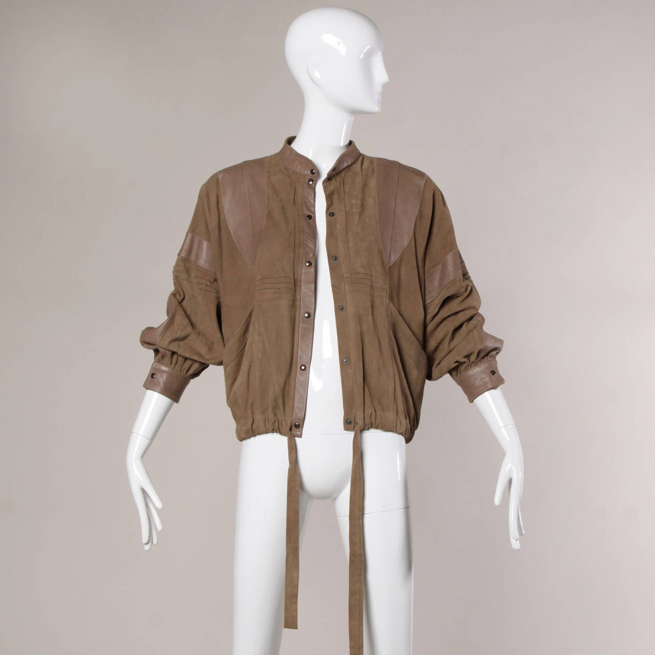 Valentino Vintage Brown Buttery Leather Bomber Jacket 9
