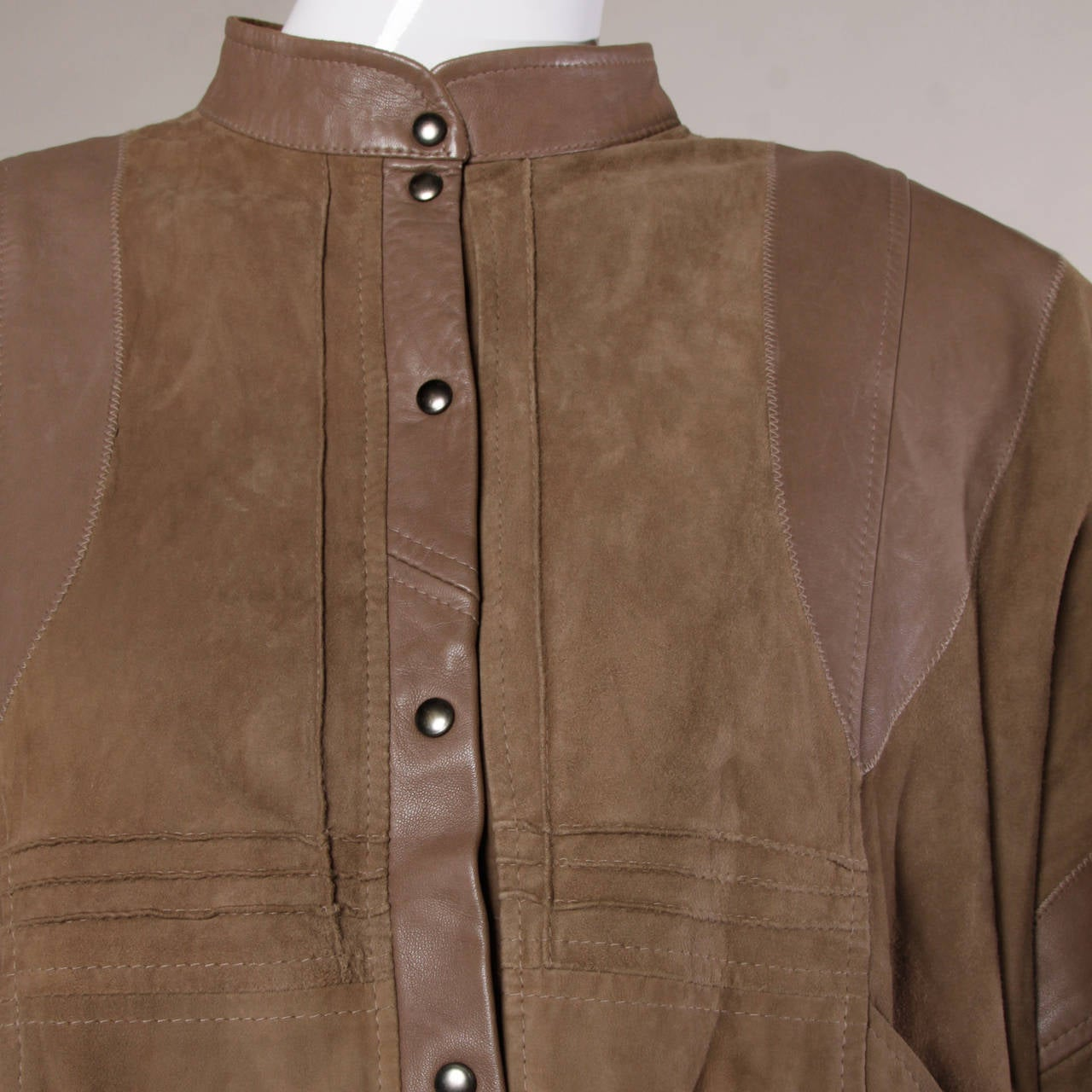 Valentino Vintage Brown Buttery Leather Bomber Jacket 4