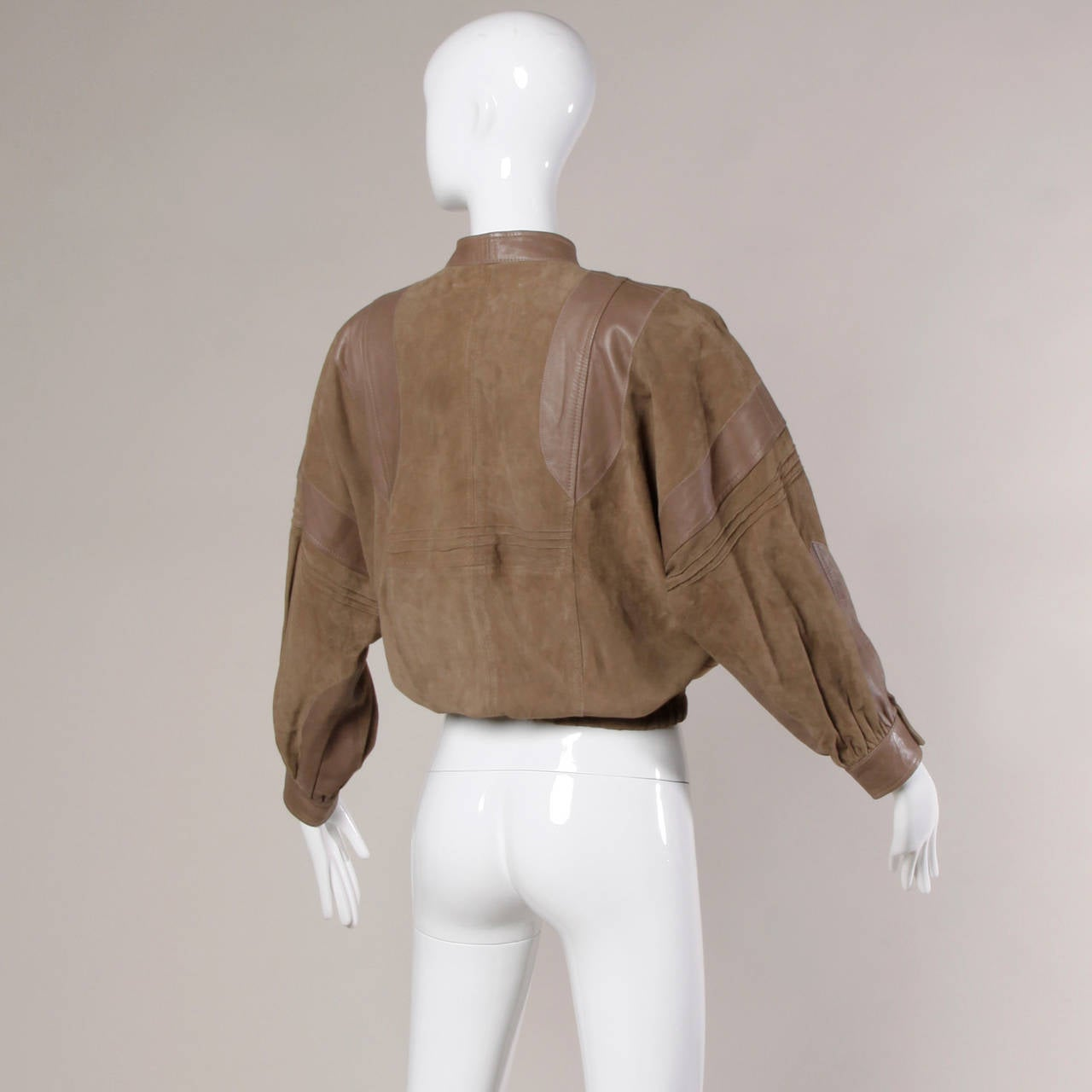 Valentino Vintage Brown Buttery Leather Bomber Jacket 6