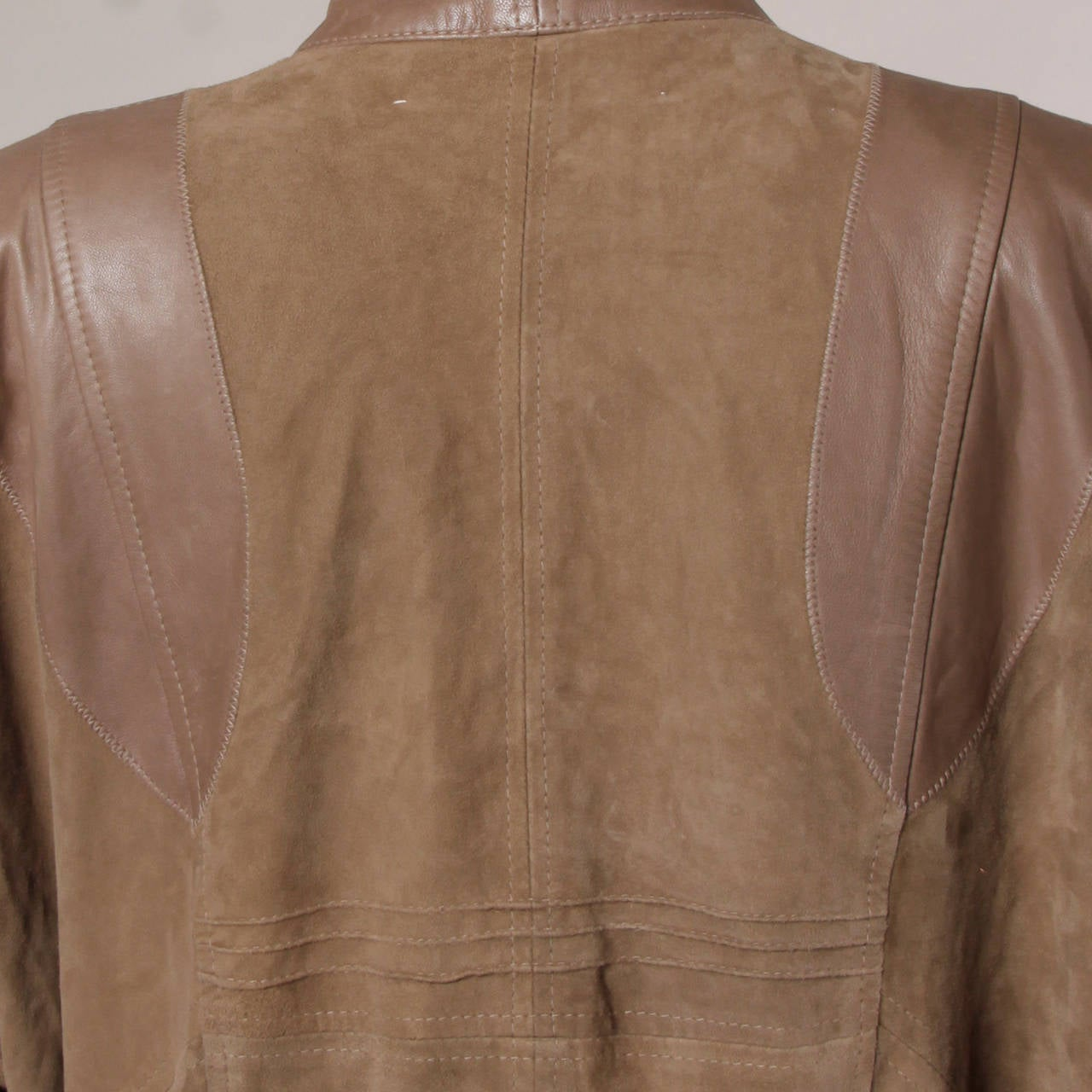 Valentino Vintage Brown Buttery Leather Bomber Jacket 7