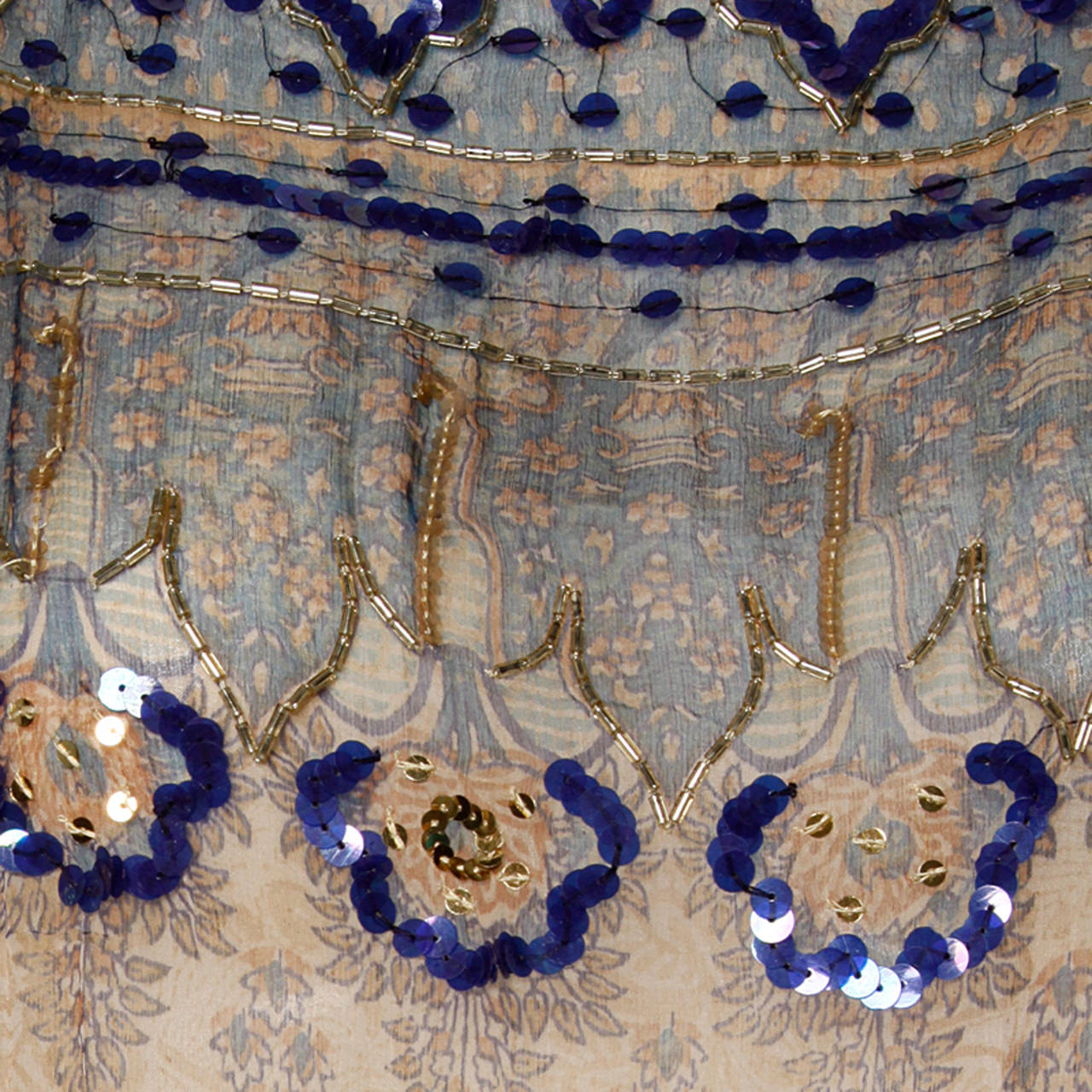 Judith Ann for Bullock's Wilshire Vintage 1970s Silk India Print Dress 5