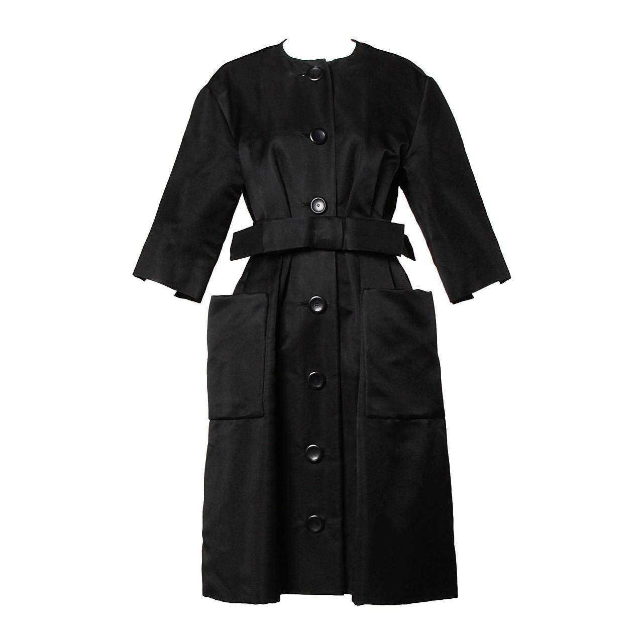 Haute Couture 1959 Yves Saint Laurent For Christian Dior Vintage Coat Dress For Sale At 1stdibs