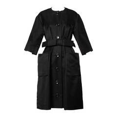 Haute Couture 1959 Yves Saint Laurent for Christian Dior Vintage Coat Dress