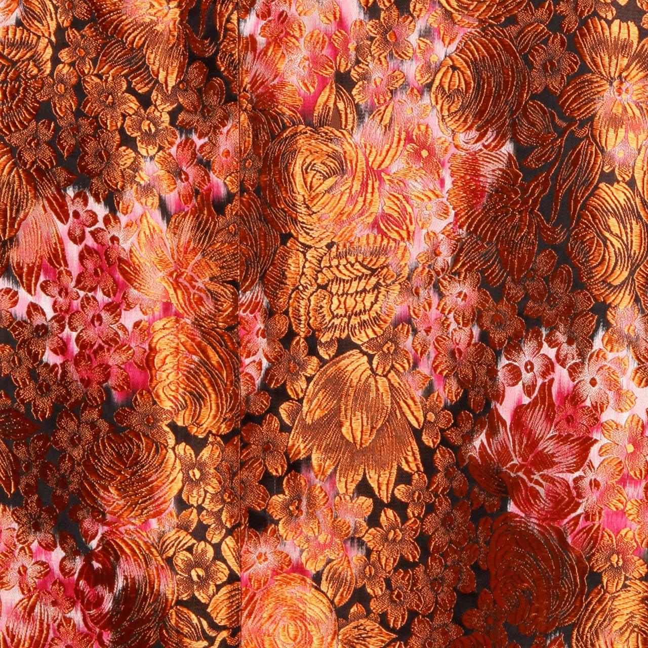 1960s Vintage Japanese Silk Kimono Coat or Robe 7