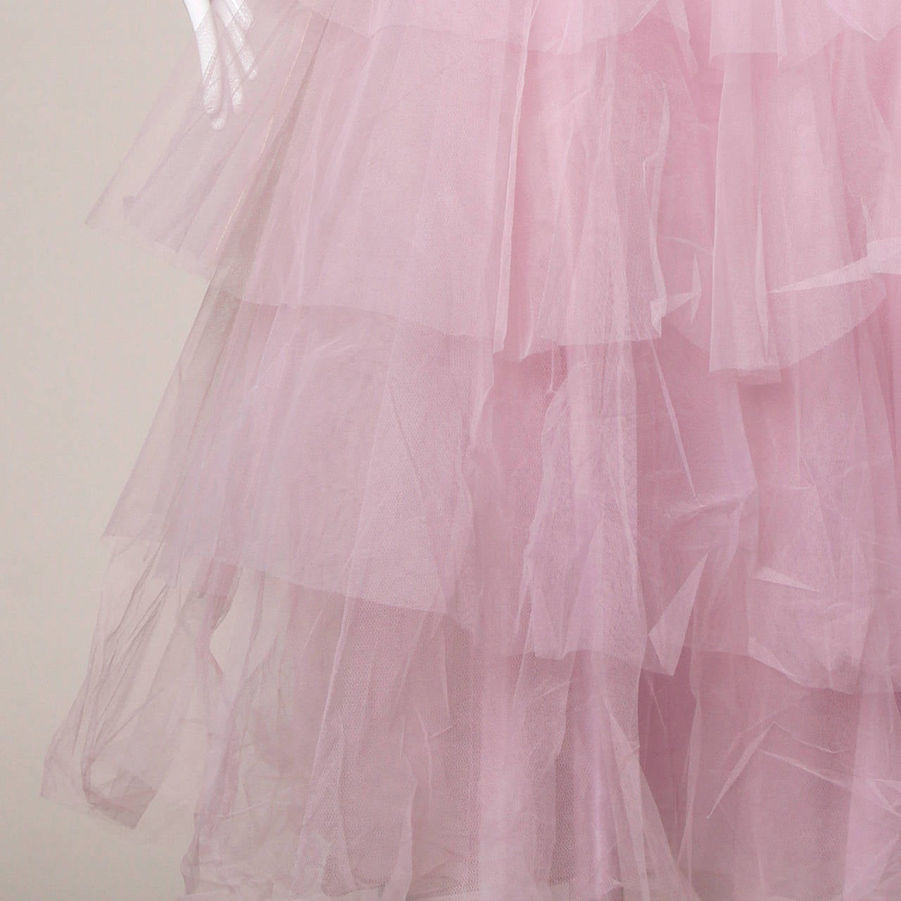 1950s Vintage Tiered Tulle Formal Cupcake Dress 3
