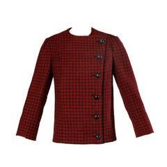 Vintage 1960's Pauline Trigere Houndstooth Jacket