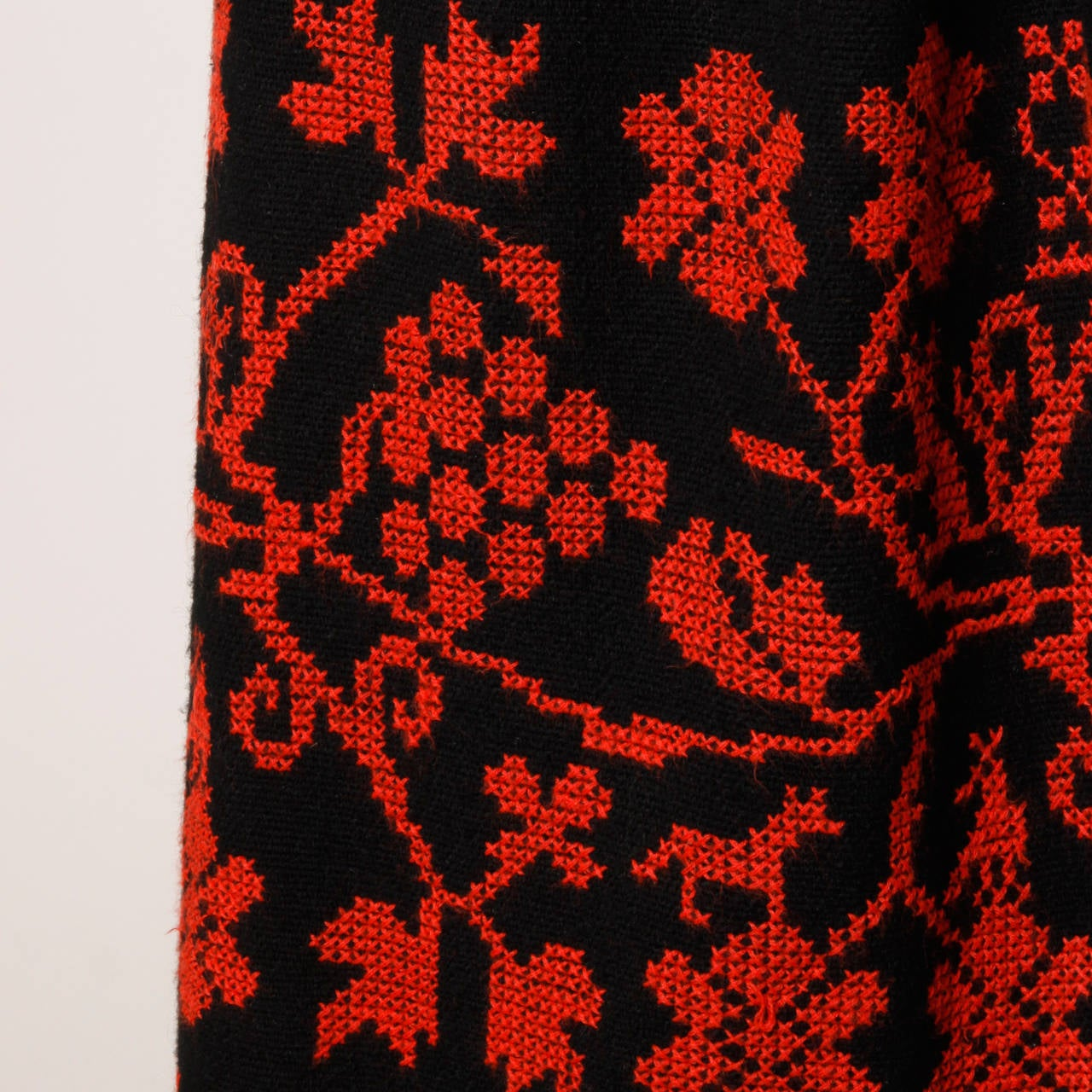 Vintage Hand Embroidered Cross Stitch Maxi Skirt 7