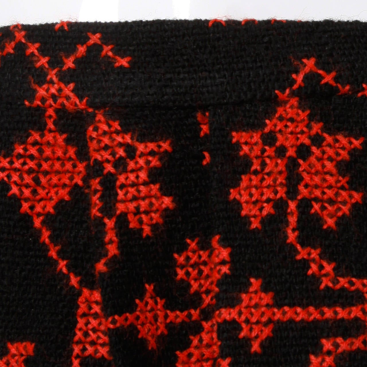 Vintage Hand Embroidered Cross Stitch Maxi Skirt 6