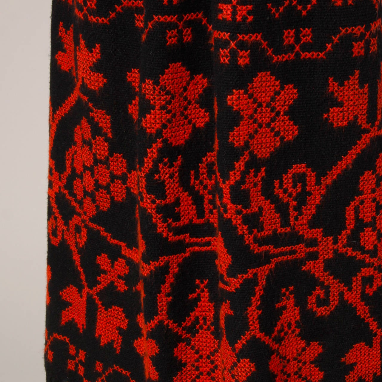 Vintage Hand Embroidered Cross Stitch Maxi Skirt 3
