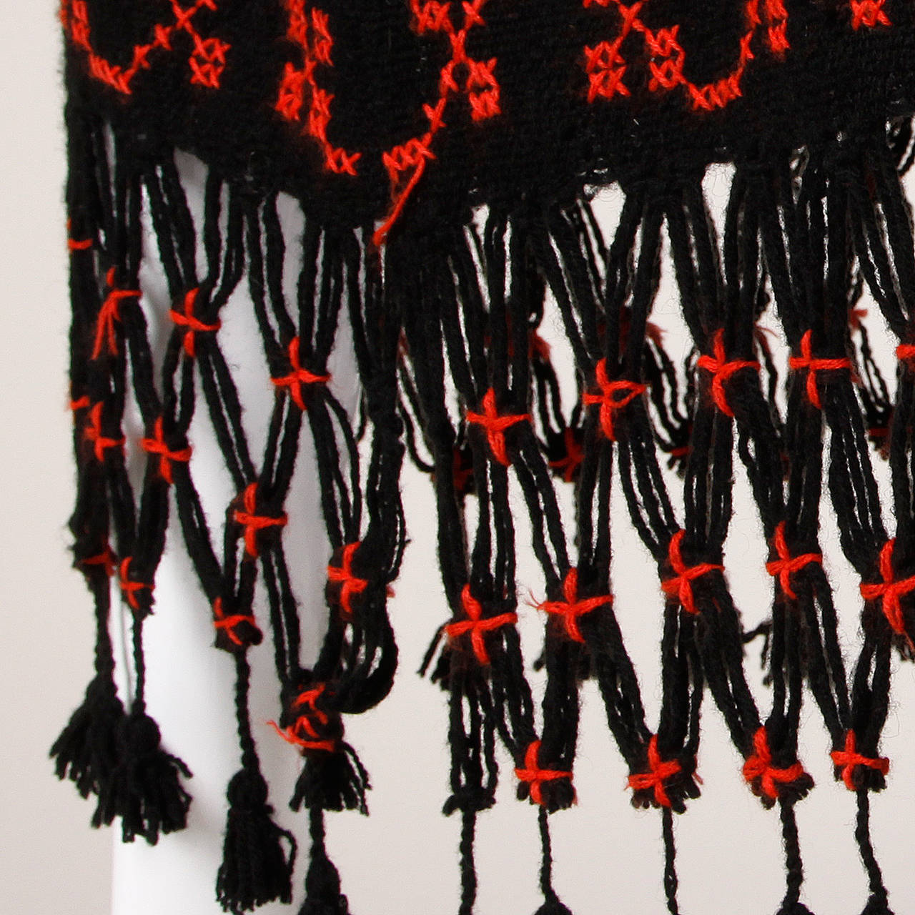 Vintage Hand Embroidered Cross Stitch Maxi Skirt 5